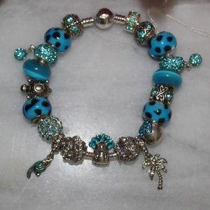 Bright & Beachy European Style Charm Bracelet